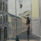 Картины и панно ручной работы. Ярмарка Мастеров - ручная работа Свидание у фонаря. Handmade.