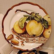 Посуда handmade. Livemaster - original item The painted porcelain.Painted porcelain plates