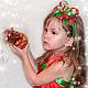 Детская бижутерия ручной работы. Ободок Зимняя вишня. Валерия (Lerin-sunduchok). Интернет-магазин Ярмарка Мастеров. Ободки купить