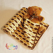 Для дома и интерьера handmade. Livemaster - original item Children`s knitted blanket