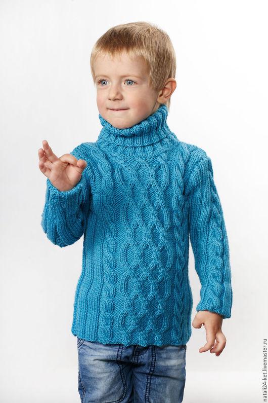Одежда унисекс ручной работы. Ярмарка Мастеров - ручная работа. Купить Водолазка детская 5. Handmade. Голубой, зима, водолазка