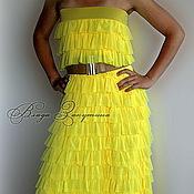 Одежда ручной работы. Ярмарка Мастеров - ручная работа Юбка-платье с рюшами, любой цвет. Handmade.