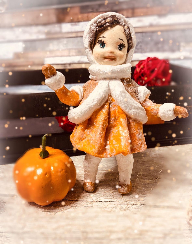 Ватная елочная игрушка Белочка, Куклы и пупсы, Москва,  Фото №1