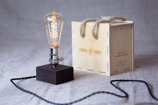 Уникальная лампа из дерева. Лампа эдисона. Настоящий винтаж. Производство Россия. #edisonlamp #лампаэдисона