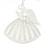 Работы для детей, handmade. Livemaster - original item Embroidered pendant angel with harp on happiness. Handmade.