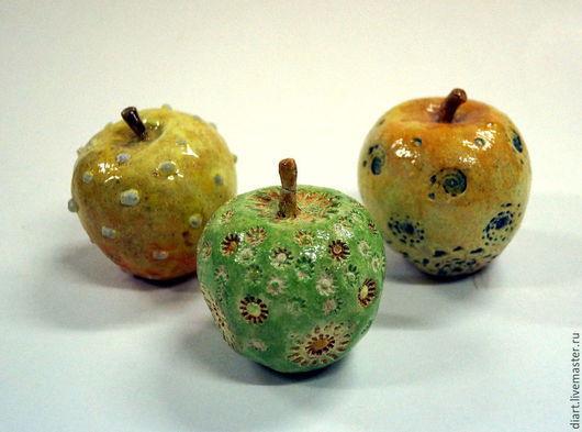 Персональные подарки ручной работы. Ярмарка Мастеров - ручная работа. Купить яблочки. Handmade. Разноцветный, аксессуар, глазури