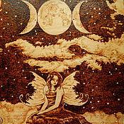 """Картины и панно ручной работы. Ярмарка Мастеров - ручная работа Картина """"Ночь третьей луны"""". Handmade."""