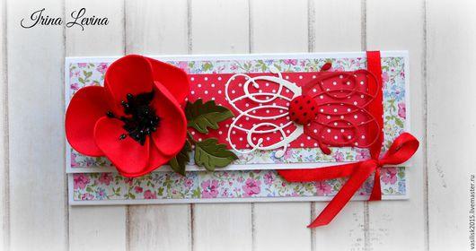 Персональные подарки ручной работы. Ярмарка Мастеров - ручная работа. Купить конверт для денег или  подарочного сертификата. Handmade.