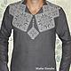 Льняная сорочка с ручной вышивкой Святкова 4. \r\nМодная одежда с ручной вышивкой. \r\nТворческое ателье Modne-Narodne.
