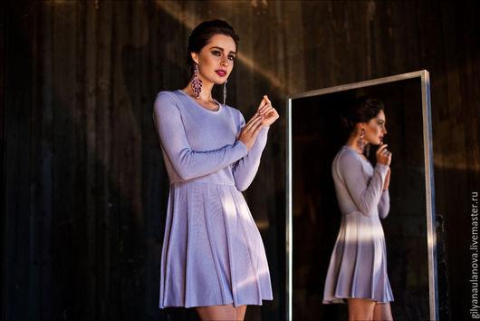 """Платья ручной работы. Ярмарка Мастеров - ручная работа. Купить Платье """"Лаванда"""". Handmade. Бледно-сиреневый, красивое платье"""