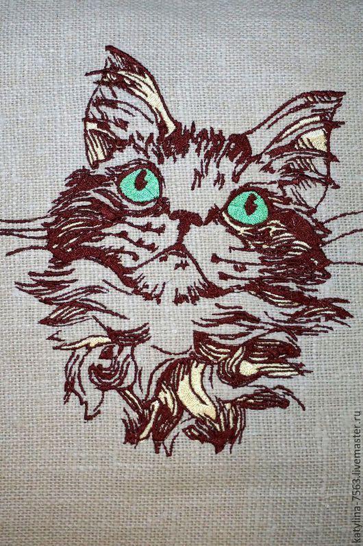 """Текстиль, ковры ручной работы. Ярмарка Мастеров - ручная работа. Купить Подушка ручной работы """"Котик"""". Handmade. Бежевый"""