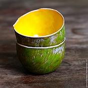 Кружки ручной работы. Ярмарка Мастеров - ручная работа Пиалы солнечный мох. Handmade.