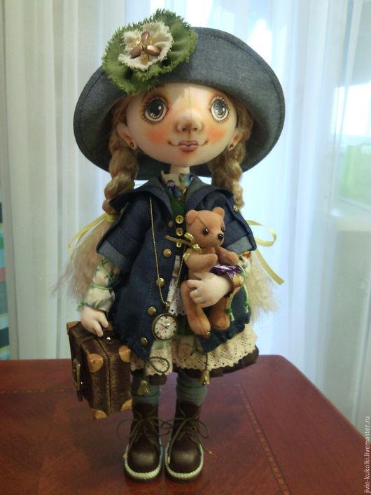 Коллекционные куклы ручной работы. Ярмарка Мастеров - ручная работа. Купить Кукла Софи. Handmade. Комбинированный, кожа натуральная