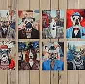Открытки ручной работы. Ярмарка Мастеров - ручная работа Набор из 8 открыток. Handmade.