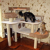 """Для домашних животных, ручной работы. Ярмарка Мастеров - ручная работа """"Раздолье"""" подходит для крупных кошек. Handmade."""