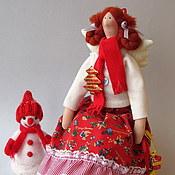Куклы и игрушки ручной работы. Ярмарка Мастеров - ручная работа Тильда ангел новогодняя. Handmade.