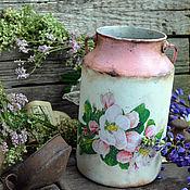 """Посуда ручной работы. Ярмарка Мастеров - ручная работа Бидончик для интерьера """" Цветочный букет"""", для дома, для дачи. Handmade."""