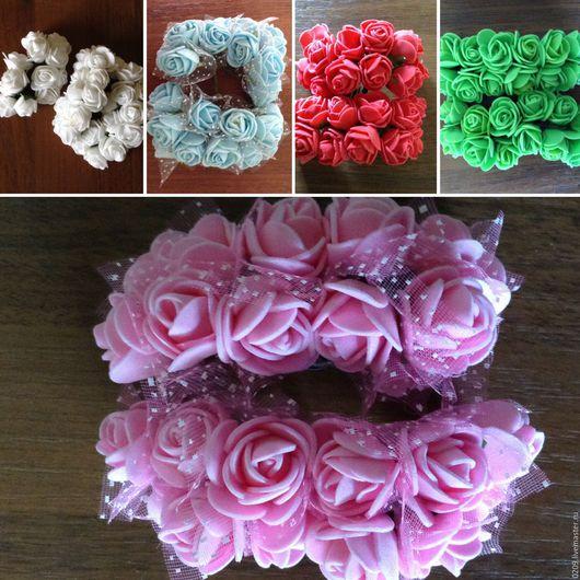 Аппликации, вставки, отделка ручной работы. Ярмарка Мастеров - ручная работа. Купить Цветочки латексные. Handmade. Комбинированный, латексные цветы