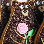 """Сувениры и подарки ручной работы. Ярмарка Мастеров - ручная работа """"Мишка"""" Имбирные пряники подарок на день рождения.. Handmade."""