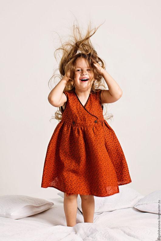 """Одежда для девочек, ручной работы. Ярмарка Мастеров - ручная работа. Купить Платье """"Винтажная роза"""". Handmade. Рыжий, в подарок девочке"""