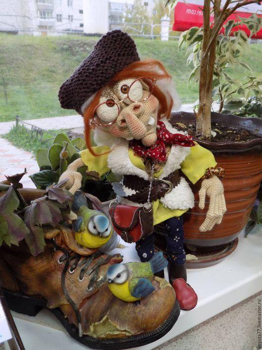 Коллекционные куклы ручной работы. Ярмарка Мастеров - ручная работа. Купить Ягуля-путешественница. Handmade. Комбинированный, подарок на любой случай