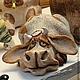 Элементы интерьера ручной работы. Ярмарка Мастеров - ручная работа. Купить корова в засаде. Handmade. Керамика, белая глина