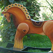 Для дома и интерьера handmade. Livemaster - original item Rocking horse from solid cedar a Horse. Handmade.