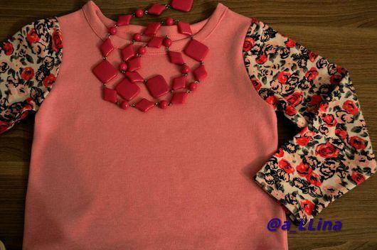 Одежда для девочек, ручной работы. Ярмарка Мастеров - ручная работа. Купить Кофта для девочки. Handmade. Свитшот на заказ, свитшот