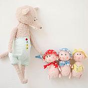 Куклы и игрушки ручной работы. Ярмарка Мастеров - ручная работа Три поросенка. Handmade.