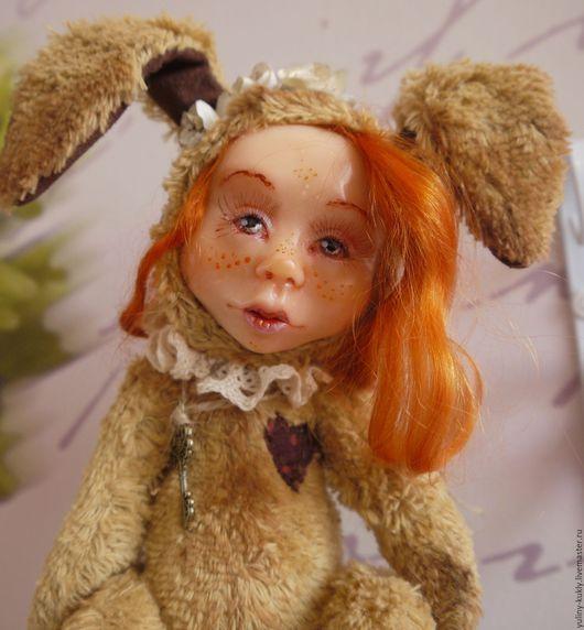 Коллекционные куклы ручной работы. Ярмарка Мастеров - ручная работа. Купить Зайка в стиле тедди-долл Аришка.. Handmade. Рыжий