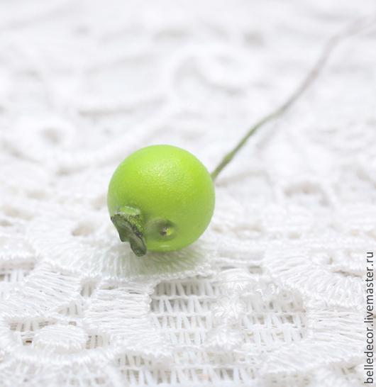 Открытки и скрапбукинг ручной работы. Ярмарка Мастеров - ручная работа. Купить Ягодка зеленая, 10 см, D1см - 850077033. Handmade.