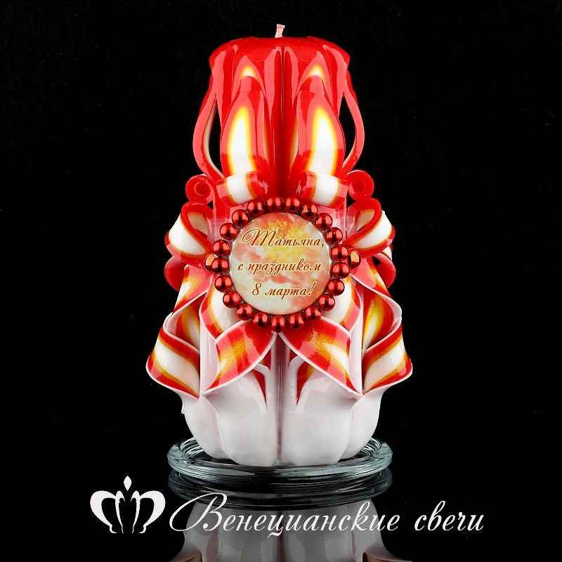 Подарок на 8 марта №44. Резные свечи ручной работы, Свечи, Москва,  Фото №1