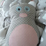 Для дома и интерьера ручной работы. Ярмарка Мастеров - ручная работа Бортики в кроватку новорожденного  Карандашные зверята. Handmade.
