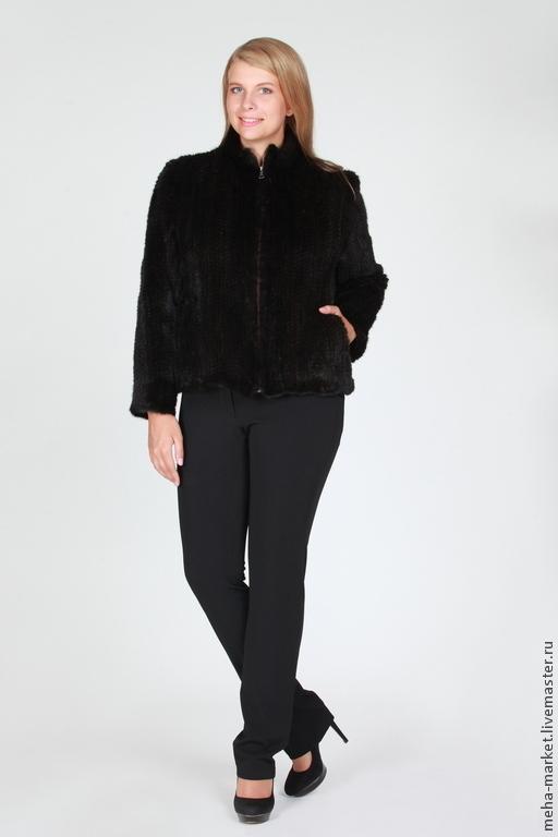 Куртка из вязаной норки `Моника`. Виктория.