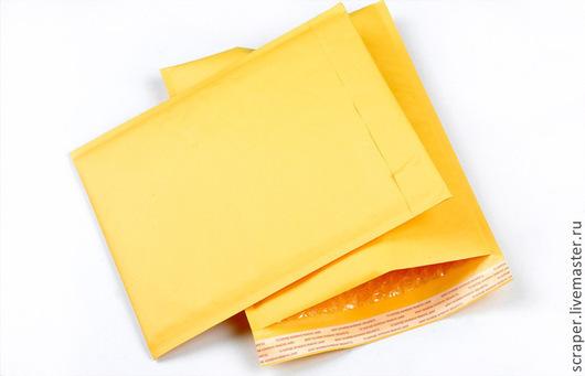 Упаковка ручной работы. Ярмарка Мастеров - ручная работа. Купить Почтовые пакеты с пузырчатой плёнкой. Handmade. Желтый, позырчатая плёнка