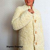 Одежда ручной работы. Ярмарка Мастеров - ручная работа Полушубок вязаный из Фурланы женский фурлана. Handmade.