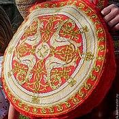 """Русский стиль ручной работы. Ярмарка Мастеров - ручная работа вышитая торба """"Золотые Драконы"""". Handmade."""