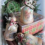 Подарки к праздникам ручной работы. Ярмарка Мастеров - ручная работа Набор колокольчиков Викторианское рождество. Handmade.