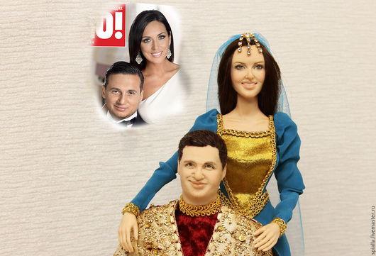 Портретные куклы ручной работы. Ярмарка Мастеров - ручная работа. Купить Портретные куклы к годовщине свадьбы. Handmade. Эксклюзивный подарок