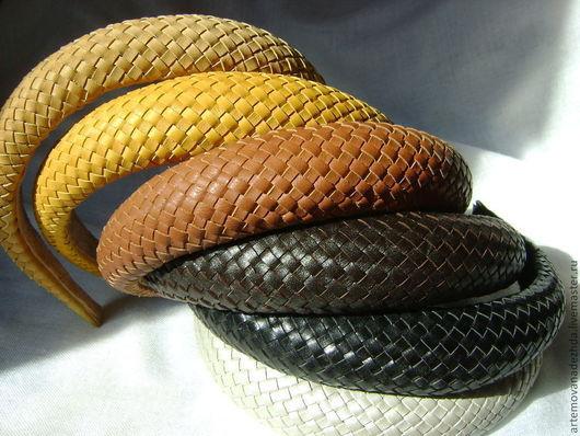 Плетёные ободки, которые есть в наличии:  жёлтый (крайний левый на фото),  тёмно-коричневый,  чёрные - см. описание ниже.