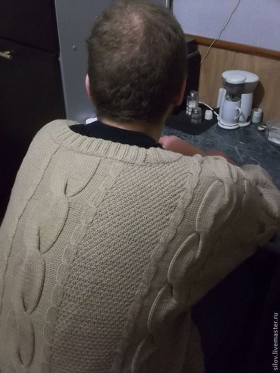 Sweater knitted from the cult film'Brother', Mens sweaters, Moscow,  Фото №1