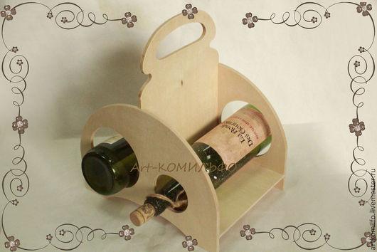 Декупаж и роспись ручной работы. Ярмарка Мастеров - ручная работа. Купить Подставка для вина .. Handmade. Бежевый, винный короб