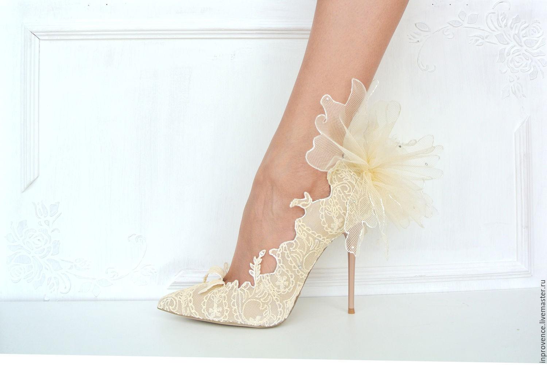 Кружевные туфли своими руками 30