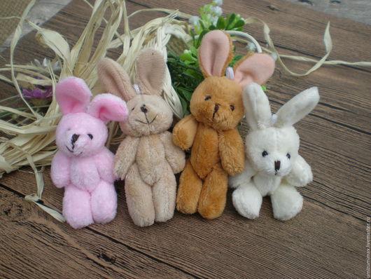 Куклы и игрушки ручной работы. Ярмарка Мастеров - ручная работа. Купить Зайки для куклы. 11 - 12 см с ушками.. Handmade.