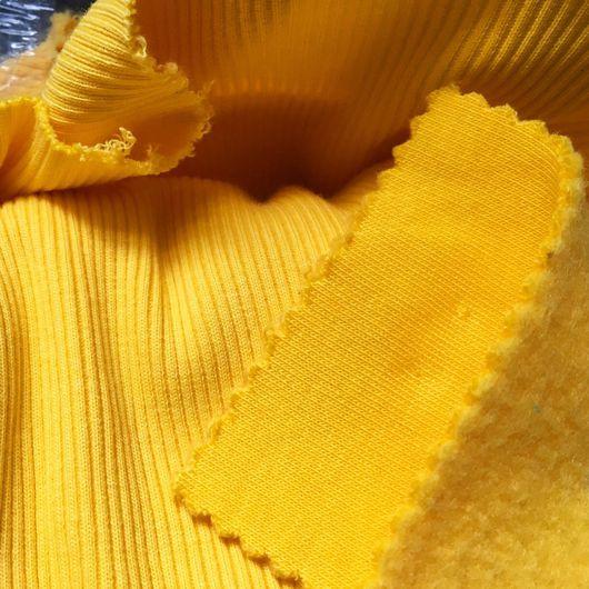 Шитье ручной работы. Ярмарка Мастеров - ручная работа. Купить Футер 3-х нитка с начёсом Жёлтый. Handmade. Футер