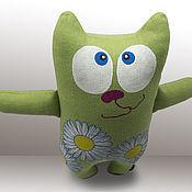 """Куклы и игрушки ручной работы. Ярмарка Мастеров - ручная работа мягкая игрушка кот """"Ромашка"""". Handmade."""