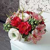Цветы и флористика handmade. Livemaster - original item A bouquet of polymer clay