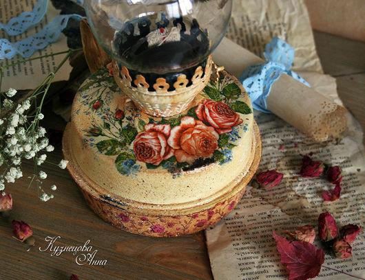 """Освещение ручной работы. Ярмарка Мастеров - ручная работа. Купить Керосиновая лампа """"Очаровательные розы"""". Handmade. Розы, интерьерное украшение"""