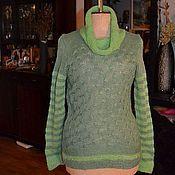 """Одежда ручной работы. Ярмарка Мастеров - ручная работа Вязанный свитер """"Зеленая роза"""". Handmade."""