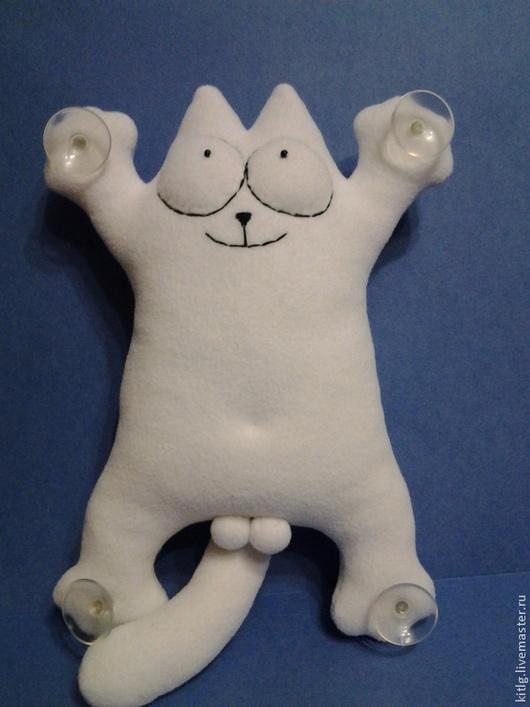 Игрушки животные, ручной работы. Ярмарка Мастеров - ручная работа. Купить Подушка-игрушка Кот Саймона. Handmade. Белый